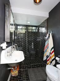 Tiles For Bathroom Walls - black tile bathroom houzz