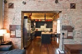 loft kitchen ideas home design brown wooden table in great loft living room opened