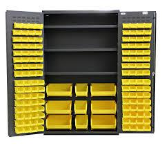 3 Bin Cabinet Jumbo Bin U0026 Shelf Cabinet 48 Inw X 24 Ind X 78 Inh Includes 3
