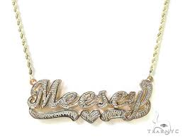 gold name necklace custom jewlery name necklace gold yellow gold 10k