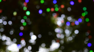 ornamental lights blur bokeh stock footage