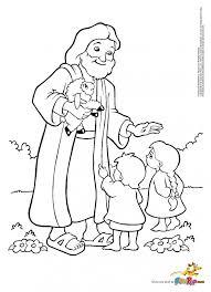 jesus loves children coloring nice jesus loves