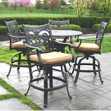 Outdoor Bistro Table Bar Height Bar Height Outdoor Dining Set Gccourt House
