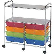 Artbin Store In Drawer Cabinet Double Storage Cart W 8 Drawers 31 74x35x14 75 Multicolor
