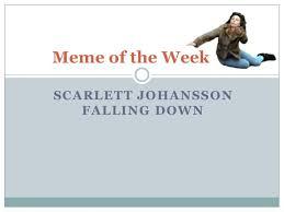 Scarlett Johansson Falling Down Meme - scarlett falling down