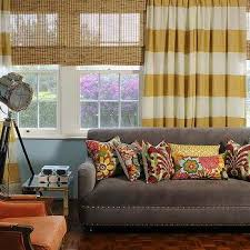 Purple And Cream Striped Curtains Horizontal Striped Curtains Design Ideas