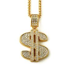 aliexpress buy nyuk mens 39 hip hop jewelry iced out aliexpress buy nyuk gold hip hop bling dollar sign 75cm gold