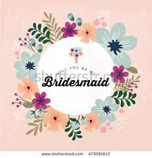 bridesmaid invitations template floral bridesmaid invitation card template vectorillustration