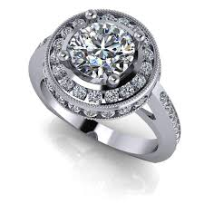 halo engagement ring settings channel set halo engagement ring setting celestial