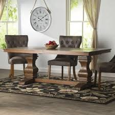 Wooden Dining Table Chairs 8 Seat Kitchen Dining Tables You Ll Wayfair