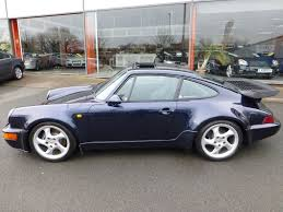 porsche whale tail used midnight blue porsche 911 turbo for sale cheshire