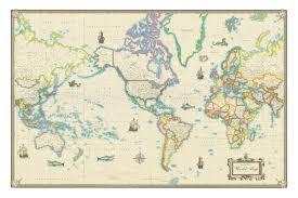 Large World Map Amazon Com World Modern Day Antique Canvas Wall Map 24x36 Prints