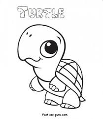 print out baby animal turtle coloring pages printable coloring