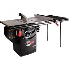 table saw reviews fine woodworking sawstop 3hp professional table saw w 36 fence rails and extension
