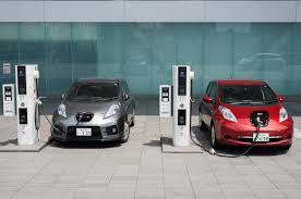 nissan leaf charging points electric vehicle prices down but americans may not be ready to