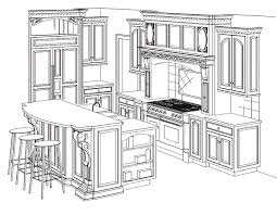 Kitchen Design Drawings Kitchen Drawing Luxury With Image Of Kitchen Drawing Painting New
