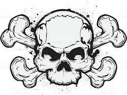 skull cross bones stock vector more images of backgrounds