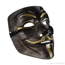 buy masquerade masks 2017new v mask black mask vendetta with eyeliner nostril anonymous