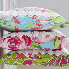 bedroom floral pillow by lilly pulitzer bedding