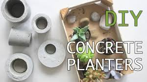 Concrete Planters Easy And Affordable Diy Concrete Planters Youtube