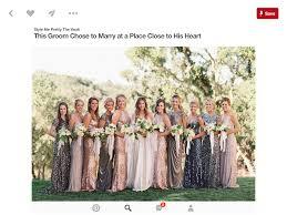 mismatched sequin bridesmaid dresses colors help weddingbee