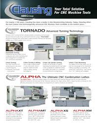 clausing cnc line up 600 group pdf catalogue technical