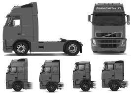 volvo n series trucks volvo fh12 globetrotter xl heavy truck blueprints free outlines