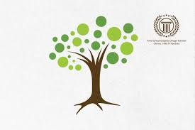 circle leaf tree logo design tutorial how to design a logo in