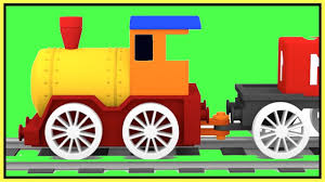 magic train construction demo to learn colors kids cartoons cars