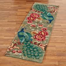 Colorful Bathroom Rugs Peacock Flora Wool Area Rugs