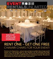 table rental atlanta rent one get one eru atlanta chiavari chairs