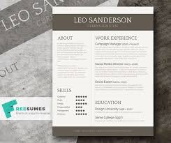 Resume Template Creative Free 69 Best Free Resume Templates For Word Images On Pinterest Free