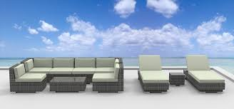 Modern Outdoor Patio Furniture Amazon Com Urbanfurnishing 10 Piece Patio Sofa Sectional Couch