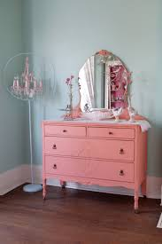 Shabby Chic Secretary Desk by Custom Order Antique Dresser Shabby Chic Distressed Pink Coral