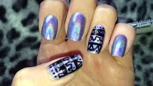 sharpie marker tribal nail art quick look youtube