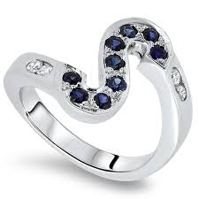 s ring london loans 0 55cts sapphire and diamond letter s ring