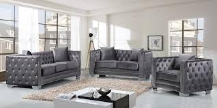 livingroom sofas furniture best quality grey velvet sofa for your living room