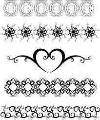 original black and white decorative ornaments royalty free