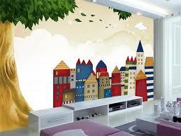 chambre arbre personnalisé 3d photo papier peint enfants chambre mural vert
