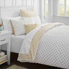 white gold polka dot sheets also scandinavian bedroom design and