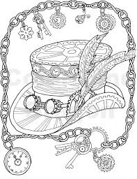 steampunk coloring hat coloring mechanical