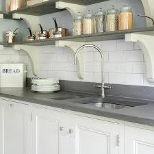 kitchen sink below shelves design ideas