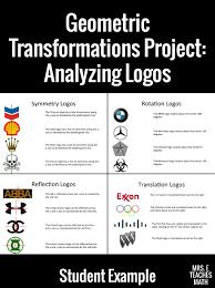 transformations logo project mrs e teaches math