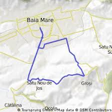 baia mare map 18 km cycling route for mountain bikes in baia mare bikemap
