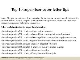 curriculum supervisor cover letter
