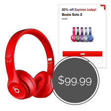 target coupon black friday save 50 off of beats solo 2 headphones at target