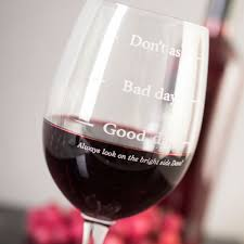 personalised wine glass good day bad day don u0027t ask