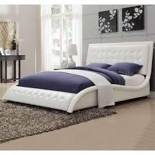 modern bed design using single tufted king bed modern king beds design
