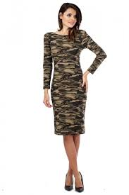 glamour womens bodycon low back camo dress tight fitted