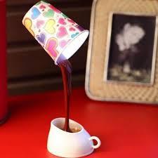 coffee cup led light desk table lamp gadget flow